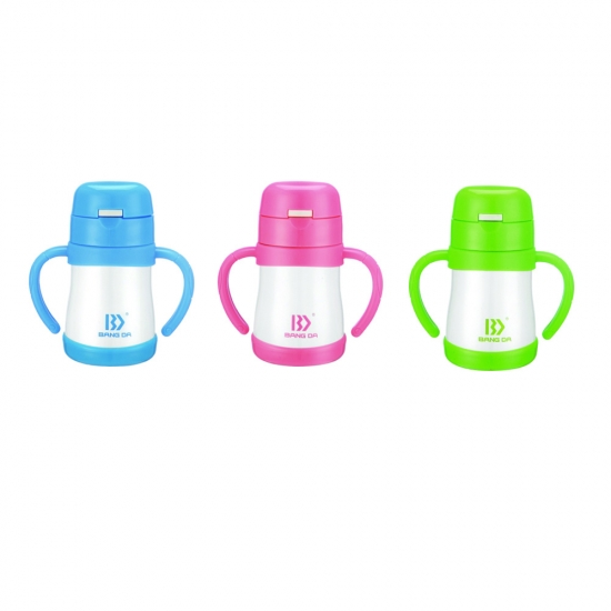 Children Sipper Straw Water Bottle Lead Free