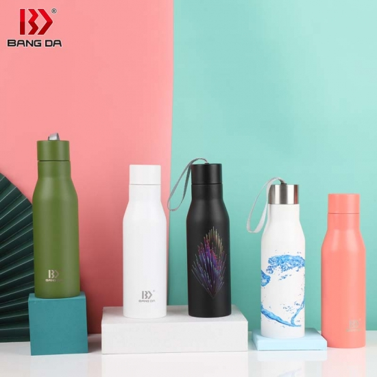 Stainless steel vacuum sport bottle